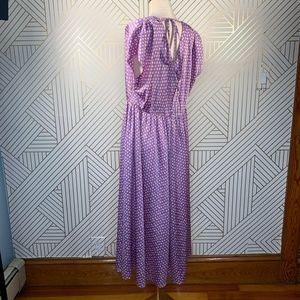 kate spade Dresses - Kate Spade Geo Dot Satin Midi Dress Painted Pansy